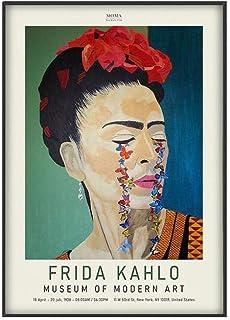 Moderna Felce Fumo Vintage Watercolor Ritratto su Tela Stampa Immagine.Decorazione della Parete Domestica Frameless LIZHIOO Frida Kahlo Poster Stampa con Arte Moderna Spagnola