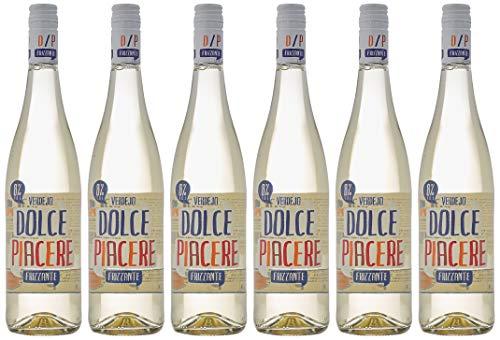 Vino Blanco Dolce Piacere Frizzante, Pack de 6 Botellas de 750 ml (Total: 4.5 L) Bodega Cuatro Rayas
