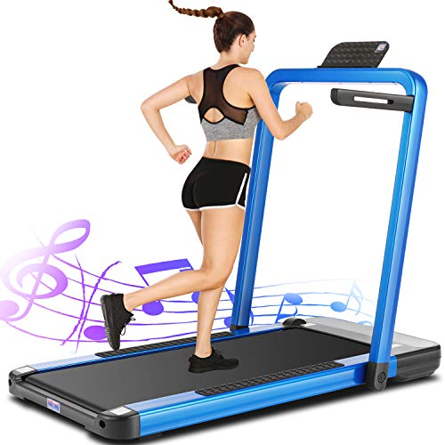 ANCHEER 2in1 Folding Treadmill, 2.25HP APP Control Under Desk Treadmills with LCD Touch...