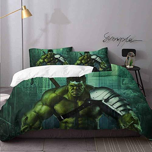 Kids Comforter Cover Hulk Arts Zc Decorative 3 Piece Bedding Set with 2 Pillow Shams Bedding 3 Piece Duvet Cover Set Full