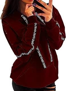 Hooded Sweatshirt Women Plus Size Letter Printing Long Sleeve Crop Top Hoodies Pullover Sweatshirt Beach Tunic