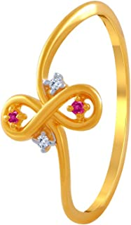 P.C. Chandra Jewellers 14k (585) Yellow Gold and American Diamond Ring for Women