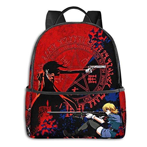 AOOEDM Anime Hellsing - Phone Case More 8 Student School Bag School Cycling Leisure Travel Camping Outdoor Backpack