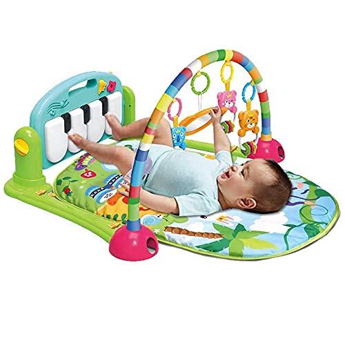 Tapis de jeu pour bébé, tapis de piano, tapis de jeu pour bébé - Tapis respirant pour enfants de 0 à 3 à 6 à 9 à 12 mois - Bleu