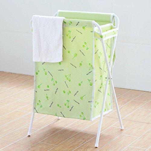 Xuan - Worth Another Panier Blanc Vert Cerise de Panier de Stockage matériel de Panier de Stockage de Tissu d'Oxford de Panier de Cerise avec la Couverture