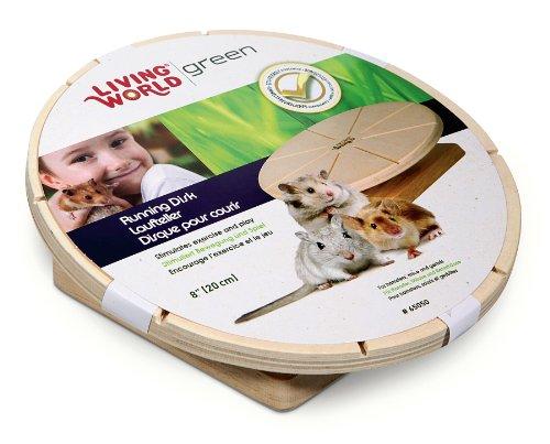 Living World Green Laufteller für Hamster, Mäuse und Rennmäuse