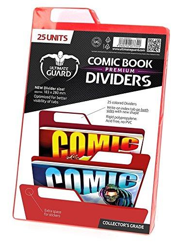 Ultimate Guard Premium Comic Book Intercalaires (Lot de 25, Rouge)