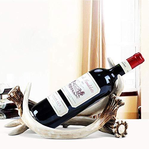 BXU-BG Botellero Europeo Vinos Cabina Decoraciones Salón Moderno Minimalista Vino Rack Creativo Porche Decoración Pegamento Decoración