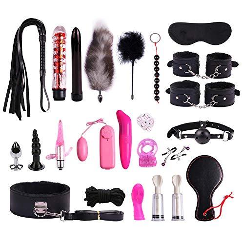 Juguete Erótico Mujer Kit, Conjunto De Felpa Conjunto De Encuadernación Especial De Traje De Juguete Sexy, Conjunto De 23 Piezas De Cuero SM Kit De PU