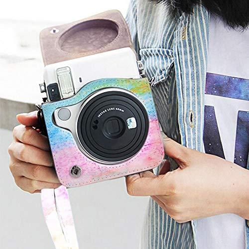 Germerse Estuche para cámara, Bandolera para cámara, Estuche para cámara Desmontable, para Trabajo con cámara con Instax Mini 70(Oil Paint)