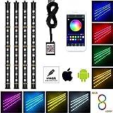 Nanpoku LED RGB テープライト USB式 携帯APPコントロール 車内装飾用 LEDテープ 防水 音に反応 全8色切替 4パターン点灯 フットランプ 足下照明 12V 車 IOS&Android対応 日本語取扱説明書 1年保証付き