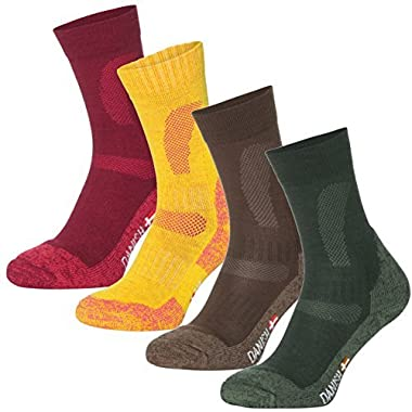 DANISH ENDURANCE Merino Wool Hiking & Trekking Socks (Wine Red 1 Pair, US Women 5-7 // US Men 3.5-6)