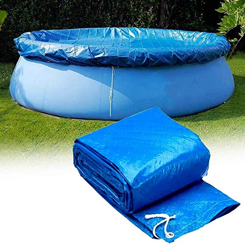 Ostop 305 cm Rund Pool Abdeckplane, Schwimmbad Poolabdeckung,Aufblasbare Easy Set Swimming Pool Cover PE Schutzplane Wasserdicht Staubdicht Winddicht Solarabdeckung,Blau