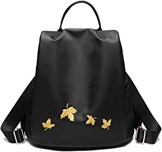 XUAN YUAN Backpack - Fashion Elegant Oxford Cloth Embroidery Backpack Small Fresh Mini Wild Canvas Light Backpack Anti-theft Waterproof Large Capacity backpack