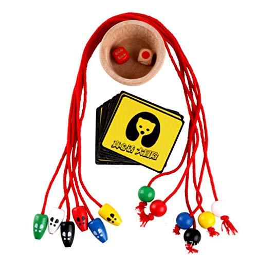 Toyvian 1 Juego de Rompecabezas para Niños Juego de Mesa de Madera para Padres E Hijos Gato Y Ratón Entrenamiento de Atención Rompecabezas Herramienta de Tablero Juego de Cerebro Juguete
