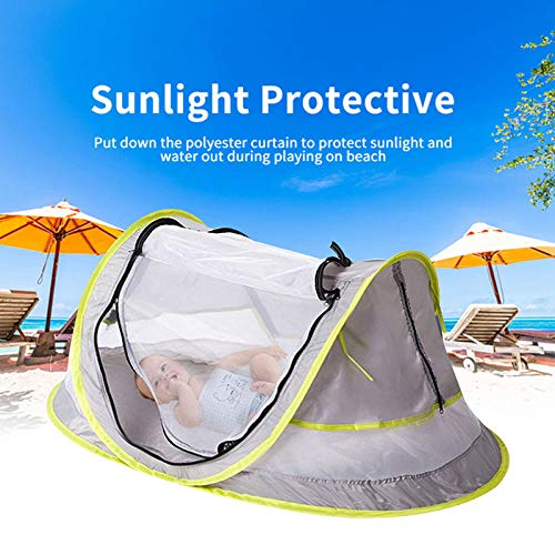 ZFLL outdoor tent Premium UV 50 Grey Mosquito Net Home Game Children'S Tent Toy Tents Crawling Indoor Baby Cloth House Sports Outdoor Soft