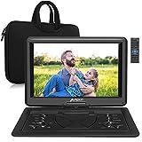 Pumpkin Lecteur DVD Portable Voiture 16 Pouce avec Sacoche de TransportGrand Ecran pour Enfant Supporte Vidéo Full HD,HDMI Input,AV in/Out,USB SD MMC,Region Libre