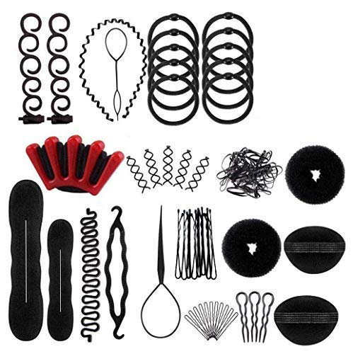 Voarge 25 PCS Haar Styling Design Zubehör styling Set, Haarstyling Zubehör Tools Kit Haar Styling Werkzeug, Hair Styling Tools mit Haar Clip, Hair Pins, Hair Styling Accessories