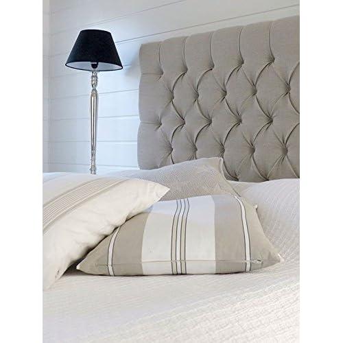 Elegant Beds 44 inch Tall SAFRON DESIGN WALL HEADBOARD in SILVER Crushed Velvet /& Diamate 3FT Single