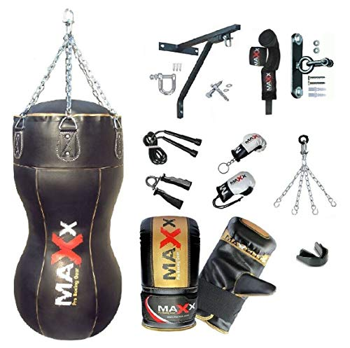MAXX Leather Body Bag Uppercut Angle Punch Bag Set heavy filled bag Free Chain punching bags Set BAG ONLY