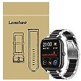 Ceston Metallo Acciaio Classica Cinturino per Smartwatch Amazfit GTS (20mm, Negro & Plata)