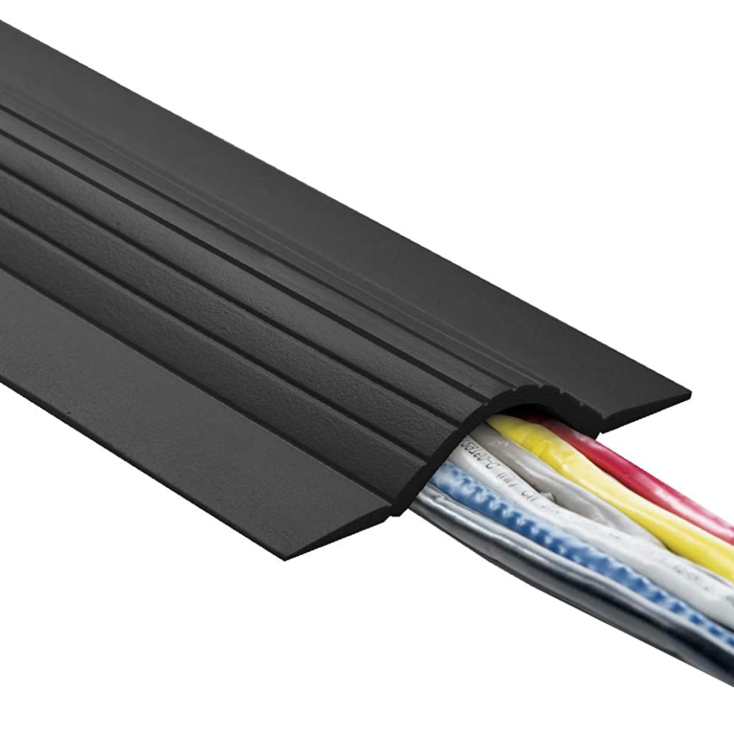 UT Wire UTW-CPL5-BK 5' Cable Blanket Low Profile Cord Cover and Protector, Black