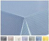 Home Direct Tovaglia in Tela Cerata plastificata Rettangolare 140 x 240cm (Blu Grigio)
