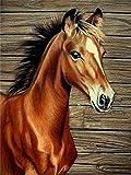 Diamante bordado Animal punto de cruz DIY diamante pintura caballo diamante mosaico diamantes de imitación pintura A20 60x80cm