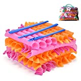 40pcs Hair Curlers Spiral Hair Curlers for Long Hair, No Heat Curlers 22inch/55cm Magic Curls with Styling Hooks Heatless Hair Curlers Styling Kit