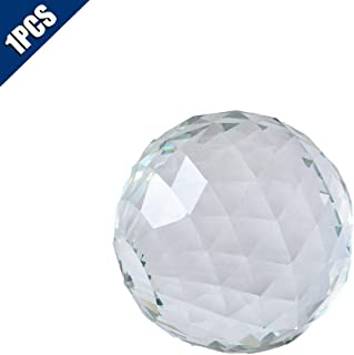 Comidox Clear Cut Crystal Sphere 50mm Faceted Gazing Ball Glass Ball Prisms Suncatcher Home Hotel Photography Décor