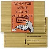 Originelle Postkarte aus Holz zum DIY gestalten – individuelle Geschenkideen von der Kult AG Made in Germany!
