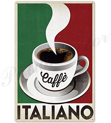 Shovv Metalen tin teken koffie Vintage metalen teken plaatje metaal vintage wanddecoratie voor keuken koffie bar café retro metalen poster ijzeren schilderij 20*30cm #019