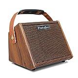 Wood.L Amplificador De Guitarra 15W, Mini Amplificador Práctica para Guitarra Acústica, Conecta Al Micrófono Y con El Cable De Carga USB, Adecuado para Uso En Interiores Y Exteriores