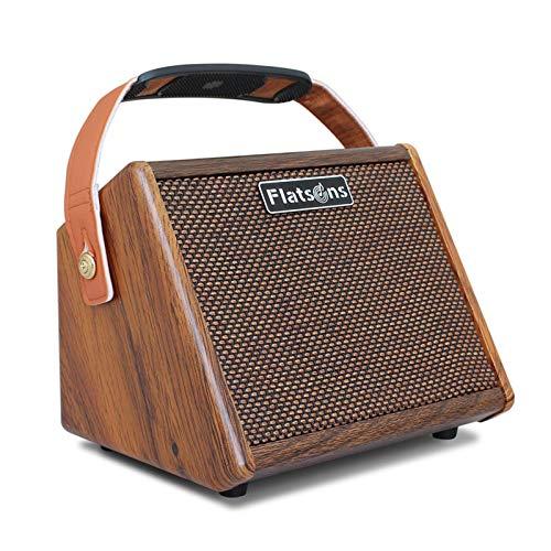 Wood.L Amplificador De Guitarra 15W, Mini Amplificador Práctica para Guitarra Acústica, Conecta...
