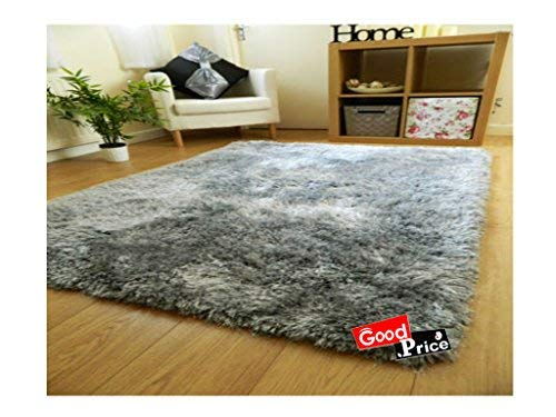 Good Price Solid Asian Carpet (Silver Grey, Polyester And Polyester Blend, 20 X 32 In)
