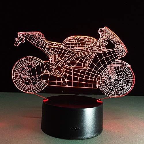 Nur 1 Stück Motorrad bunte 3D...