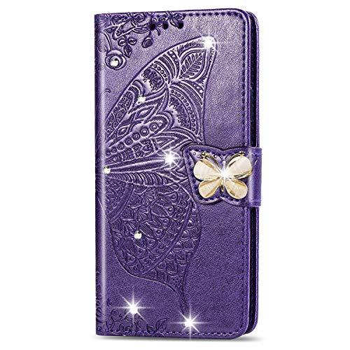 Hülle für Huawei Mate 40 Pro+ / Mate 40 Pro Hülle Handyhülle [Standfunktion] [Kartenfach] Schutzhülle lederhülle klapphülle für Huawei Mate 40 Pro + - DESD041703 Violett
