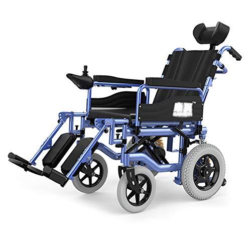 Nobuddy Silla De Ruedas Inteligente Silla De Ruedas Eléctrica Power Plegable Wheelchair Ligera Silla,Soporta 150KG,Batería de Litio de 15AH, Motor Dual de 250W, Modo Manual/Eléctrico Conmutable