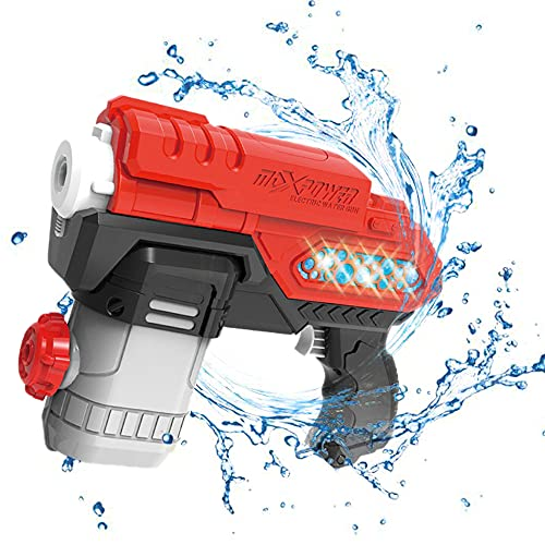 HITNEXT Electric Water Gun for Children & Adult, Battery Operated Super Soaker 300CC High Capacity Automatic Squirt Gun for Kids Summer Swimming Pool Party Beach Outdoor Game Toy Gun