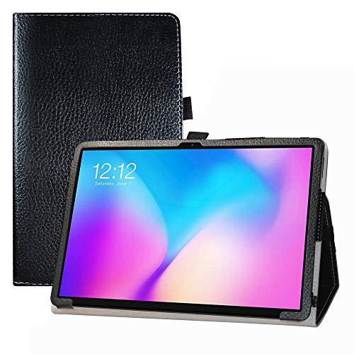 LFDZ Funda TECLAST T30,Soporte Cuero con Slim PU Funda Caso Case para 10.1' TECLAST T30 Tablet,Negro