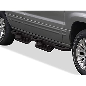 1999-2004 Jeep Grand Cherokee Only Nerf Bars Side Steps 220400 Ionic 3 Black fits