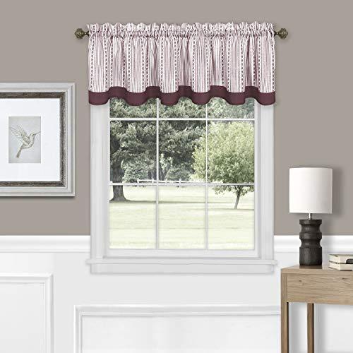 "Achim Home Furnishings, Burgundy Westport Window Curtain Valance, 58""x14"""