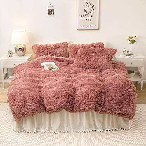 Dreamcountry Plush Fluffy Duvet Cover Oeko-TEX Certified Luxury Ultra...