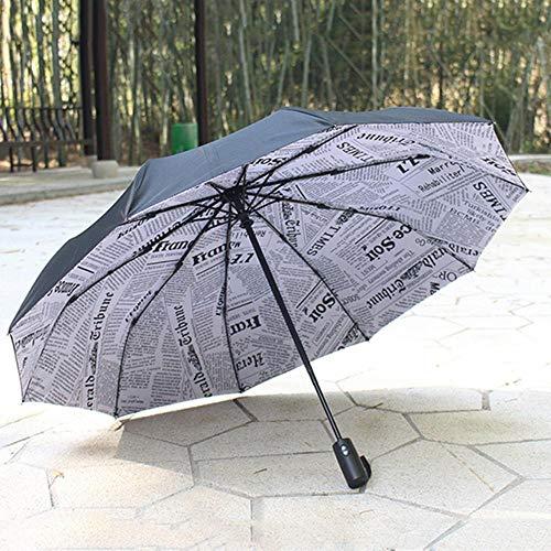 Viner Winddicht Dubbele Automatische Opvouwbare Paraplu Vrouwelijke Mannelijke Ten Bone Car Luxe Grote Zakelijke Paraplu's Regen Dames Parasol, Krant
