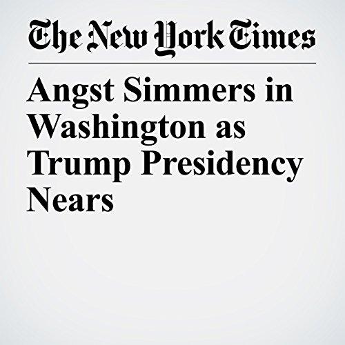 Angst Simmers in Washington as Trump Presidency Nears copertina