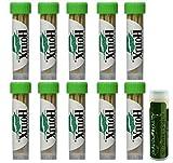 HOTLIX TOOTHPIX Mint Toothpicks .16 oz (14-16 stix per tube) Gift Set - 10 Tubes with a Jarosa Bee Organic Peppermint Lip Balm by Jarosa