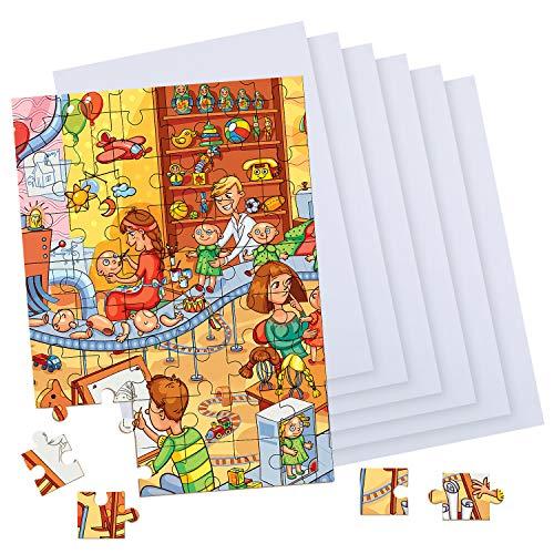 Sumind 30 Hojas Películas Protectoras de Rompecabezas Hoja de Pegamento de Rompecabezas Respaldo de Rompecabezas de Adhesivo Transparente Pegatina Estera Protector de Pegamento de Puzzle