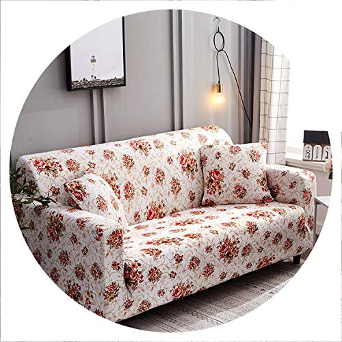 sensitives Floral Sofa Cover Slipcovers Elastic Stretch Tight Wrap All Inclusive Sofa Couch Cover Towel Furniture Protector 1/2/3/4 Seater,Color 13,4-Seater 235-300cm
