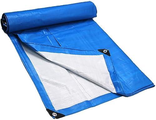 YUJIE Bache épaisse De Bache épaisse De Couverture Imperméable Polyvalente Bleue 180gramm   Mètre Carré (Taille  5.8 Mètres Et Ci-Dessous; 7.8 Mètres)