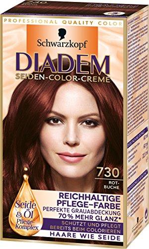 Diadem Seiden-Color-Creme, 730 Rotbuche, 3er Pack (3 x 142 ml)